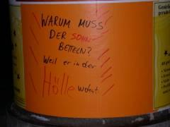 Mitteilungen auf Kiezer Litfaßsäulen Oktober 2007