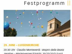 Flyer der Luisenkirchen-Gemeinde zum Jubiläumsfest
