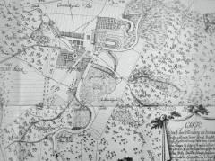 Alte Karte von der Stadtanlage nach Eosander von Göte / Bildquelle Wikipedia