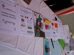 """Sommerfest auf dem Mierendorffplatz 2008 - Projekt """" Planen für den Kiez - Planung von Unten"""""""