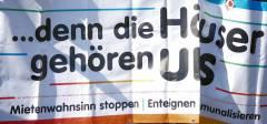 Banner auf der grossen Mietendemo in Berlin am 6.April 2019