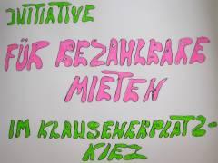 Mieterinitiative für bezahlbare Mieten am Klausenerplatz-Kiez