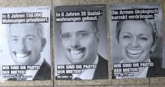 Wahlplakate - ungeschminkt und  unretuschiert