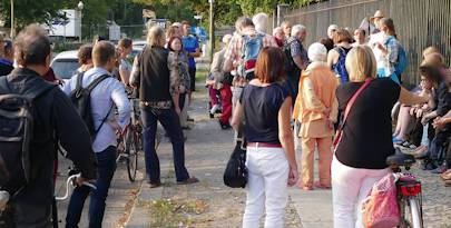 Zweiter Kiezspaziergang  der MieterWerkStadt Charlottenburg (29.08.2018)