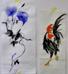 Ausstellung der Montagsmaler im Mieterclub / Sumi-E, Tusche