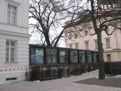 Verbindungsgang zwischen Stülerbau und Kommandantenhaus - Blick von der Hofseite