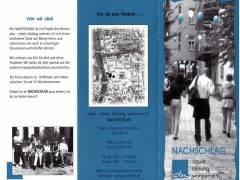 """Flyer vom """"Nachschlag"""" in der Sophie-Charlotten-Str. 83a"""