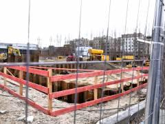 Bauarbeiten für einen neuen Netzknoten in Charlottenburg