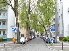 Neufertstraße an der Ecke zur Schloßstraße
