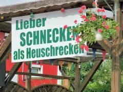 """Protest gegen """"Heuschrecken"""" in der Kleingartenkolonie Oeynhausen"""