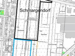 Kleingartenkolonien Oeynhausen und und Friedrichshall / Karte © Vermessungsamt Charlottenburg-Wilmersdorf