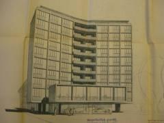 Wohn- und Geschäftshaus am Henriettenplatz / Entwurf Ollk/v. Schöppenthau (1955)