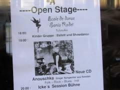 Open Stage im Eiscafé Fedora