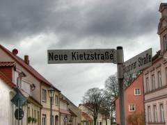 Straßenschild in Kremmen