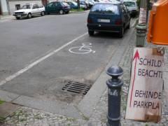 Behindertenparkplatz in Eigenregie