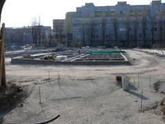 Parkplatzbau am Schloßpark