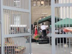 Polizeifest - Live-Music auf der Bühne im Innenhof
