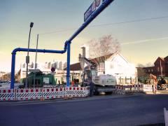 Neubau des Abwasserpumpwerks Charlottenburg - Arbeiten rund um das bisherige Pumpwerk gegenüber