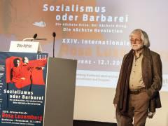 Der Publizist Otto Köhler auf der Rosa-Luxemburg-Konferenz 2019 / Foto © Frank Wecker