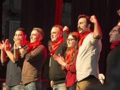 """Die türkische Band """"Grup Yorum"""" auf der Rosa-Luxemburg-Konferenz / Foto © Frank Wecker"""