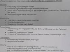 Überblick über die vorgesehenen Arbeiten - laut Informationsschreiben der GEWOBAG  an die Mieter der beiden Häuser