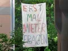 Mieterprotest in der Seelingstraße