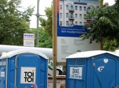 Bauarbeiten Sophie-Charlotten-Straße 83 - 6. August 2012