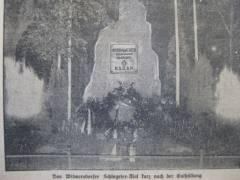 Schlageter-Denkmal am Tag der Enthüllung (Bildquelle - Der Westen, 27.5.1933, Beilage)