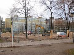 Bauarbeiten am Schloßpark