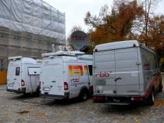 """Der """"rbb"""" vor dem Schloß Charlottenburg 22.10.2007"""