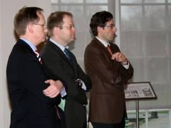von rechts nach links - Prof. Dr. Hartmut Dorgerloh (SPSG), Marc Schulte (SPD), Klaus-Dieter Gröhler (CDU)