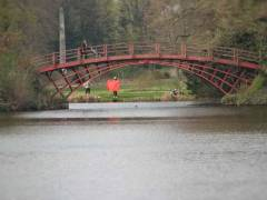 Munteres Leben auf und hinter der Brücke im Schloßpark Charlottenburg - Frühling 2013