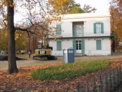 Bauarbeiten am Schinkel-Pavillon (Stand vom 2. November 2011)