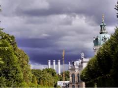 Wind und Regen ziehen auf im Schloßpark Charlottenburg (Sept. 2015)