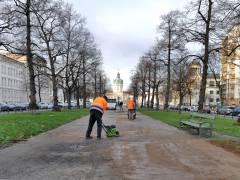 Mittelstreifen der Schloßstraße wird ausgebessert