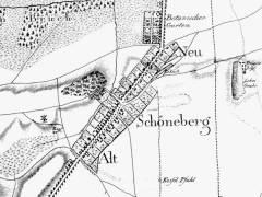 Karte der Siedlung Schöneberg (Ausschnitt) / Bildquelle Wikipedia
