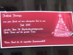 Beste Wünsche vom Kiezer Schornsteinfeger an den Haustüren