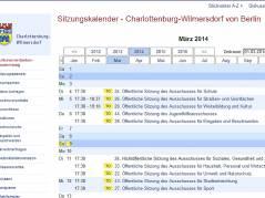 Sitzungskalender März 2014 - Screenshot vom 9.3.2014