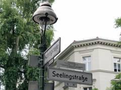 Straßenschild in der Seelingstraße