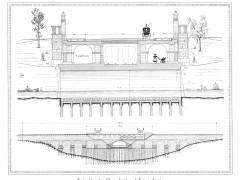 Seeparkbrücke - Querschnitt und Längsschnitt