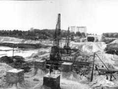 Bau der Barbrücke (1911)
