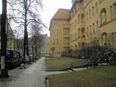 Blick durch Spessartstraße nach Süden mit Gartenterrassen