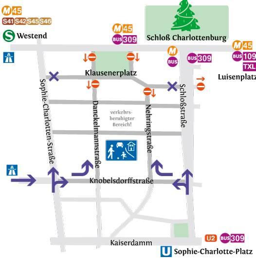 Verkehrshinweise für Besucher des Weihnachtsmarktes