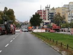 Spandauer Damm - Blickrichtung Spandauer-Damm-Brücke