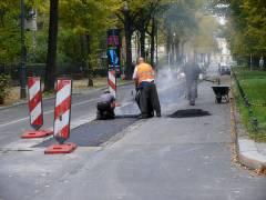 Straßenausbesserung in der Schloßstraße Oktober 2007