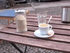 Straßencafé im Winter - Anfang Januar 2014