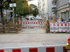 Straßensperrungen wegen Bauarbeiten auf der Knobelsdorffstraße