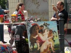 Straßenflohmarkt - vor der Fleischerei Bauermeister