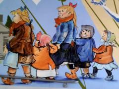 "Stromern in ""Zilles Milljöh"" - Wandmalerei in Charlottenburg"