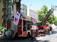 Feuerwehr auf der Schloßstraße